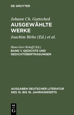 Abbildung von Gottsched / Birke   Gedichte und Gedichtübertragungen   Reprint 2015   1968   6