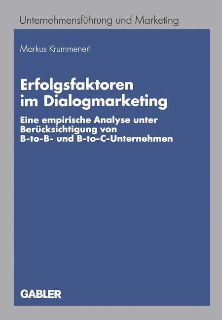 Abbildung von Krummenerl | Erfolgsfaktoren im Dialogmarketing | 2005