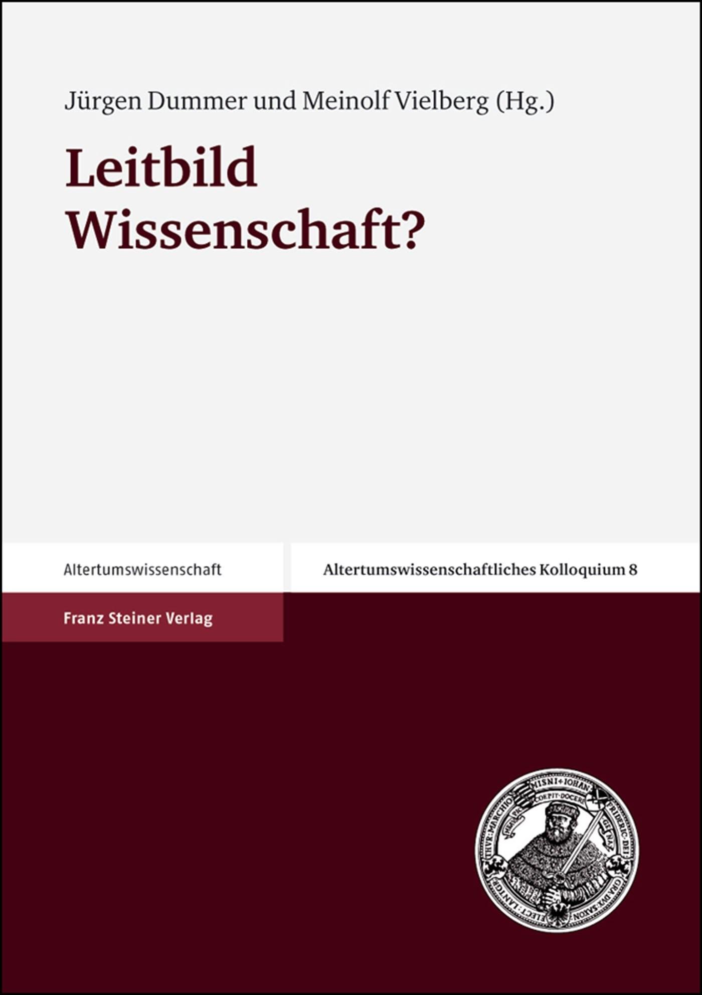 Leitbild Wissenschaft? | Dummer / Vielberg, 2003 | Buch (Cover)
