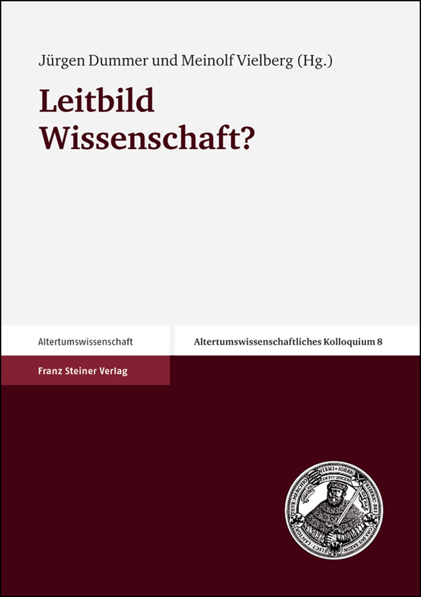 Abbildung von Dummer / Vielberg | Leitbild Wissenschaft? | 2003