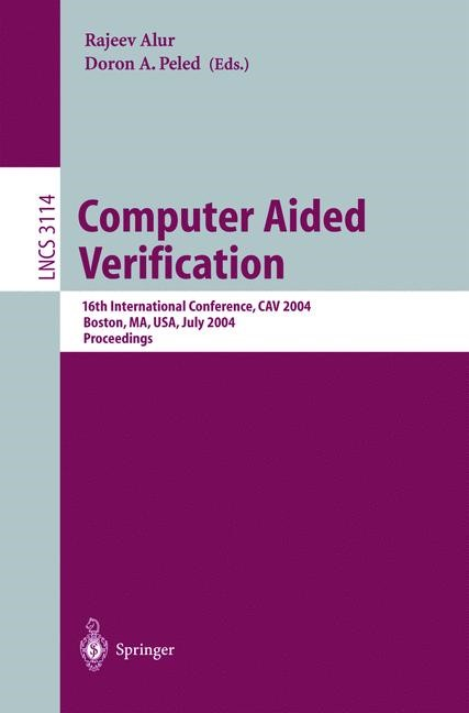 Abbildung von Alur / Peled | Computer Aided Verification | 2004