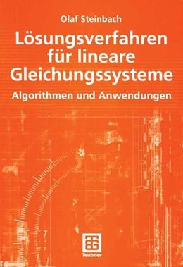 Abbildung von Steinbach | Lösungsverfahren für lineare Gleichungssysteme | 2005 | Algorithmen und Anwendungen