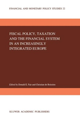 Abbildung von Fair / de Boissieu | Fiscal Policy, Taxation and the Financial System in an Increasingly Integrated Europe | 1992 | 22