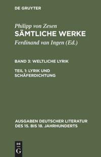 Abbildung von Zesen / Ingen | Zesen, Philipp von: Sämtliche Werke | 1993 | 1993
