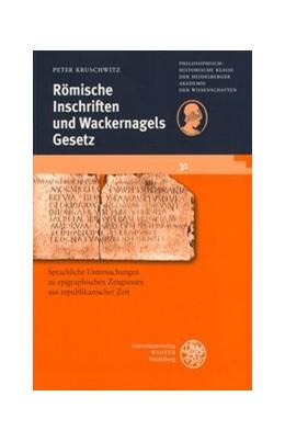 Abbildung von Kruschwitz | Römische Inschriften und Wackernagels Gesetz | 2004 | Untersuchungen zur Syntax epig... | 31