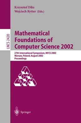 Abbildung von Diks / Rytter | Mathematical Foundations of Computer Science 2002 | 2002 | 27th International Symposium, ... | 2420