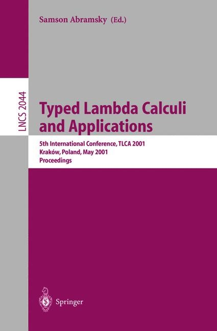 Typed Lambda Calculi and Applications | Abramsky, 2001 | Buch (Cover)