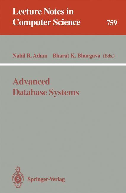 Abbildung von Adam / Bhargava | Advanced Database Systems | 1993