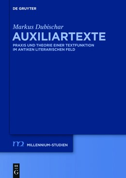 Abbildung von Dubischar | Auxiliartexte | 1. Auflage | 2015 | beck-shop.de