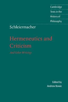 Abbildung von Schleiermacher / Bowie | Schleiermacher: Hermeneutics and Criticism | 1998 | And Other Writings