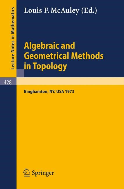 Abbildung von McAuley | Algebraic and Geometrical Methods in Topology | 1974