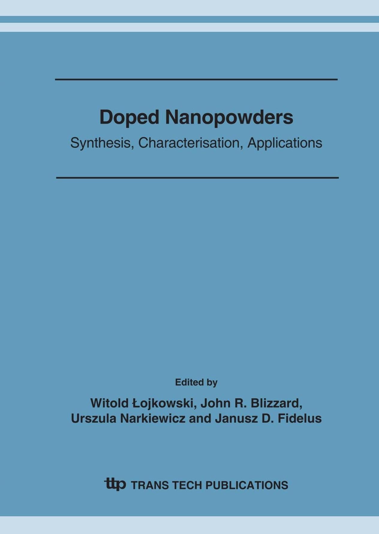 Doped Nanopowders | ojkowski / Blizzard / Narkiewicz / Fidelus, 2007 | Buch (Cover)