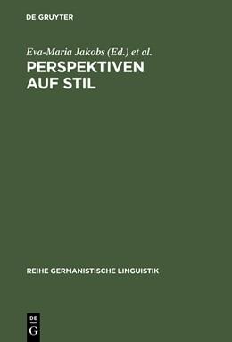 Abbildung von Jakobs / Rothkegel | Perspektiven auf Stil | Reprint 2012 | 2001 | 226