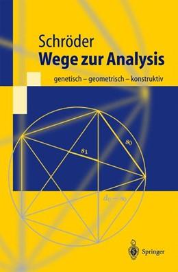 Abbildung von Schröder | Wege zur Analysis | 2001