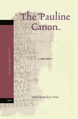 Abbildung von Porter   The Pauline Canon   2004   1