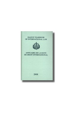 Abbildung von Lammers | Hague Yearbook of International Law / Annuaire de La Haye de Droit International, Vol. 21 (2008) | 2009 | Volume 21 (2008) | 21