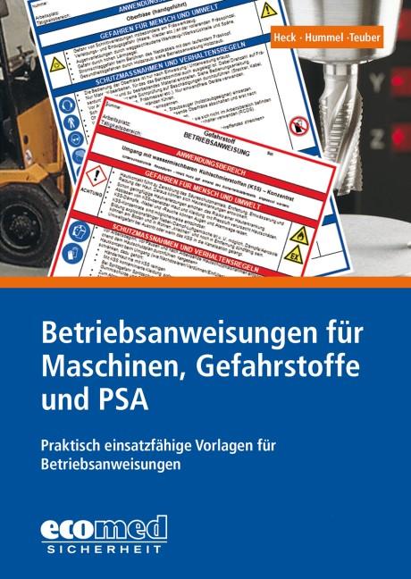 Abbildung von Hummel / Teuber   Betriebsanweisungen für Maschinen, Gefahrstoffe und PSA   26. Aktualisierung   2018