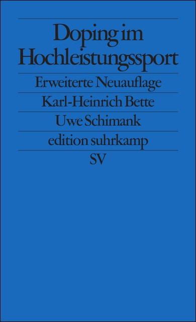 Abbildung von Bette / Schimank | Doping im Hochleistungssport | Erweiterte Auflage | 1995