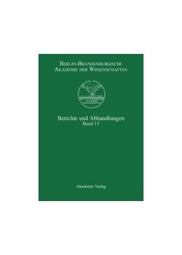 Abbildung von Berlin-Brandenburgische Akademie der Wissenschaften | Band 15 | 2009