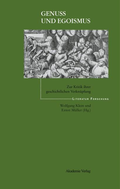 Abbildung von Klein / Müller | Genuß und Egoismus | 2002