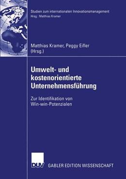 Abbildung von Kramer / Eifler   Umwelt- und kostenorientierte Unternehmensführung   2003