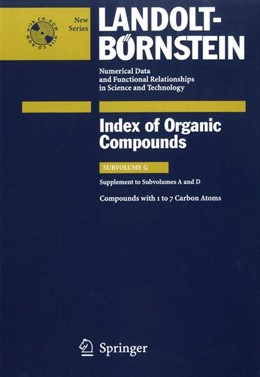 Abbildung von Bauhofer / Peters / Weigner | Compounds with 1 to 7 Carbon Atoms (Supplement to Subvolume A and D) | 2005 | 3G