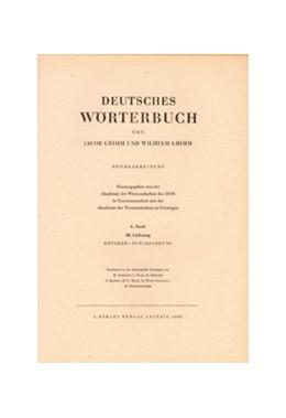 Abbildung von Grimm / Berlin-Brandenburgische Akademie der Wissenschaften und der Akademie der Wissenschaften zu Göttingen | Grimm, Dt. Wörterbuch Neubearbeitung | 1999