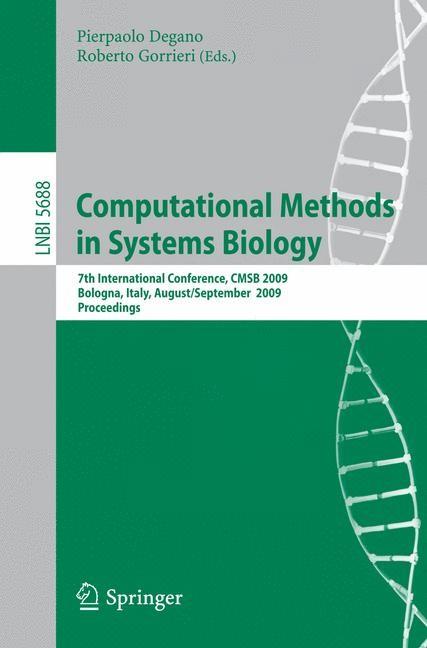 Abbildung von Degano / Gorrieri | Computational Methods in Systems Biology | 2009