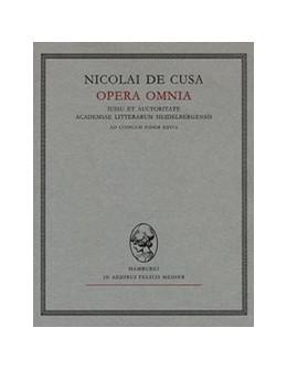 Abbildung von Riemann / Bormann /    Nicolai de Cusa Opera omnia / Opuscula II. Fasciculus 2. De deo unitrino principio   1994