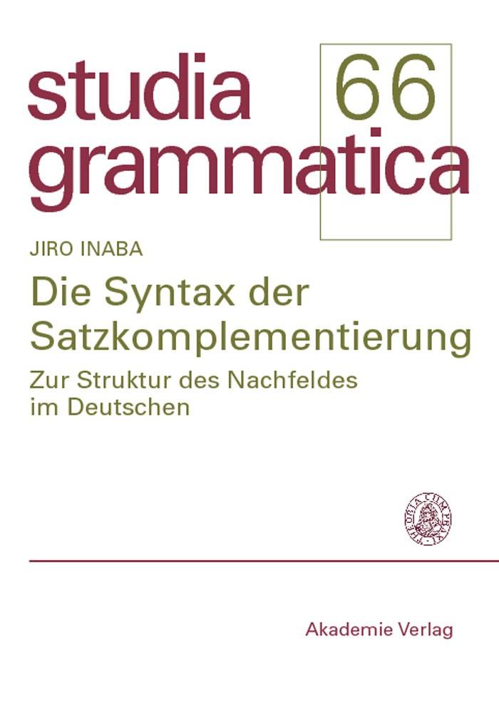 Abbildung von Inaba | Die Syntax der Satzkomplementierung | 2007