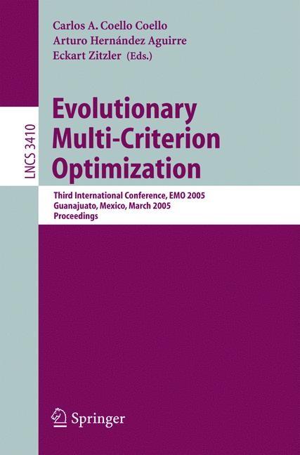 Abbildung von Coello Coello / Hernández Aguirre / Zitzler | Evolutionary Multi-Criterion Optimization | 2005