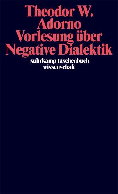 Abbildung von Adorno / Tiedemann | Vorlesung über Negative Dialektik | 2007