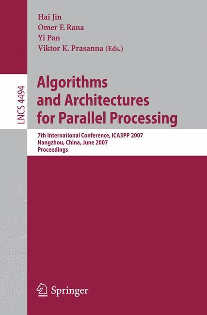 Abbildung von Jin / Rana / Pan / Prasanna | Algorithms and Architectures for Parallel Processing | 2007