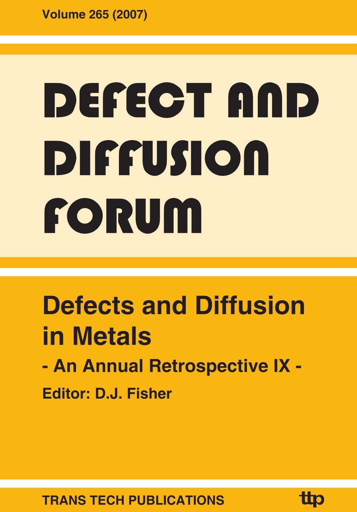 Abbildung von Fisher | Defects and Diffusion in Metals | 2007