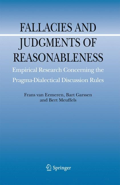 Abbildung von van Eemeren / Garssen / Meuffels | Fallacies and Judgments of Reasonableness | 2009