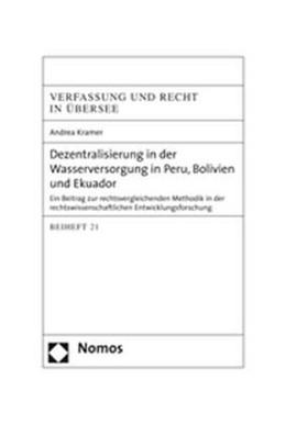 Abbildung von Kramer | Dezentralisierung in der Wasserversorgung in Peru, Bolivien und Ekuador | 2006 | Ein Beitrag zur rechtsvergleic...