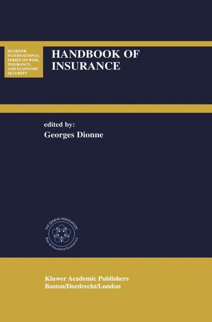 Abbildung von Dionne | Handbook of Insurance | 2001