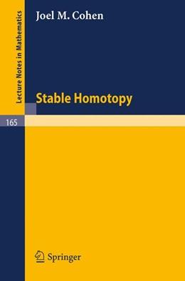 Abbildung von Cohen | Stable Homotopy | 1970 | 165