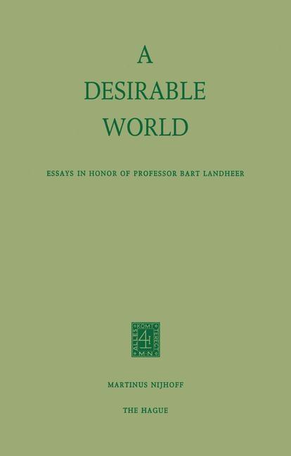 Abbildung von Reigersman-Van der Eerden / Zoon | A Desirable World | 1974