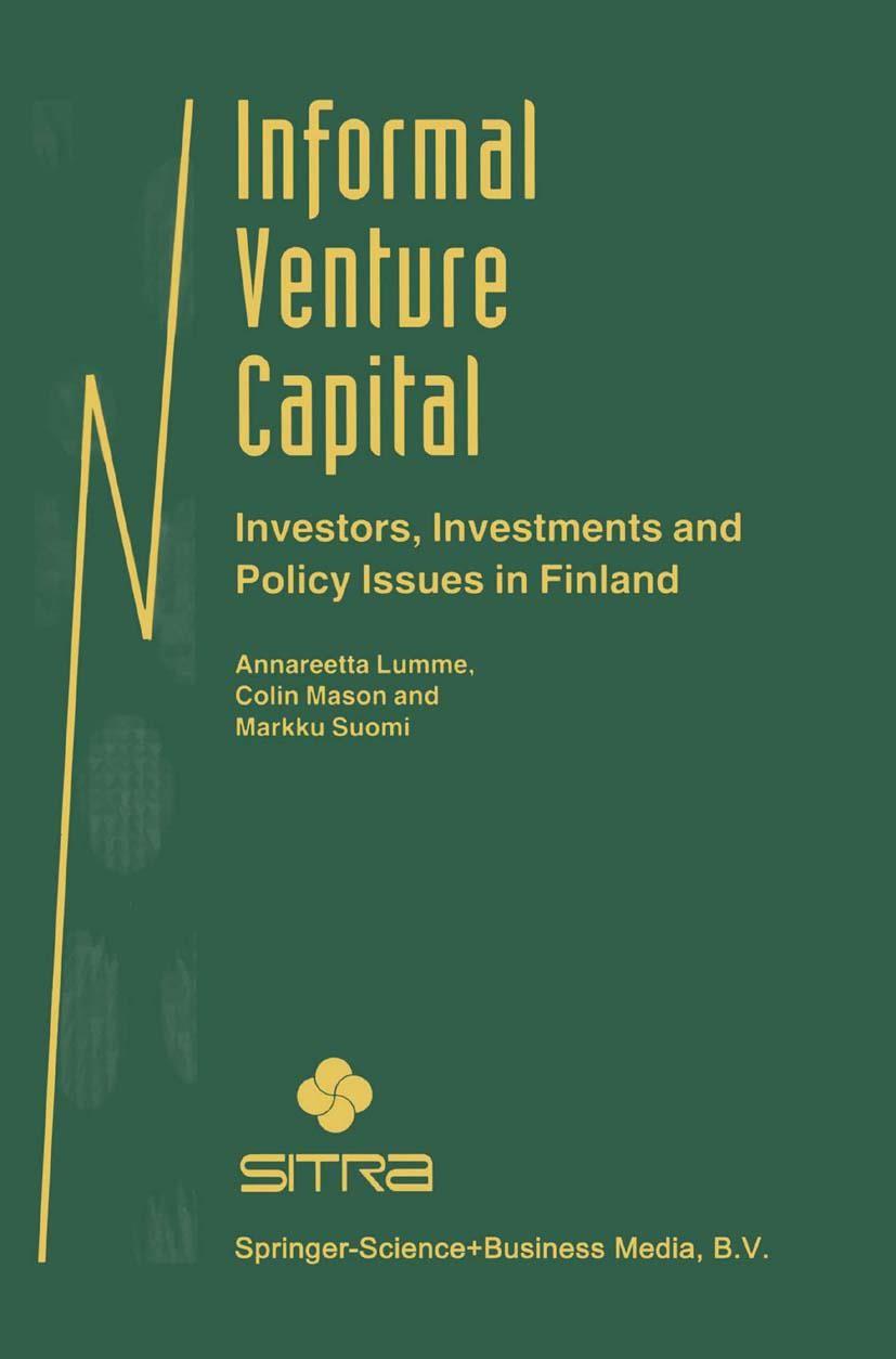 Abbildung von Lumme / Mason / Suomi | Informal Venture Capital | 1998