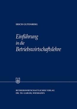 Abbildung von Gutenberg | Einführung in die Betriebswirtschaftslehre | 1958 | 15