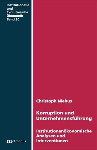 Abbildung von Niehus | Korruption und Unternehmensführung | 2007
