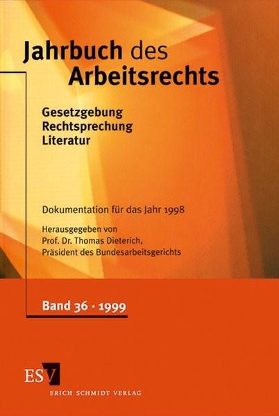 Abbildung von Dieterich | Jahrbuch des Arbeitsrechts | 1999