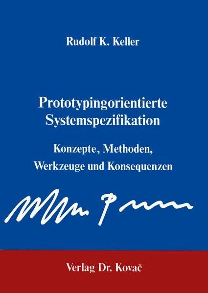 Abbildung von Keller | Prototyping-orientierte Systemspezifikation | 1989