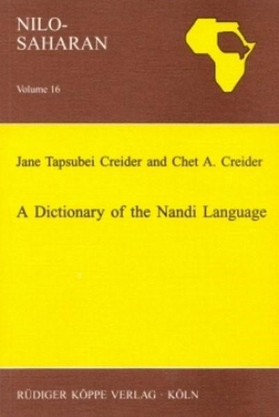 Abbildung von Creider / Creider | A Dictionary of the Nandi Language | 2001