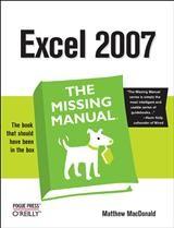 Abbildung von Matthew MacDonald   Excel 2007: The Missing Manual   2007