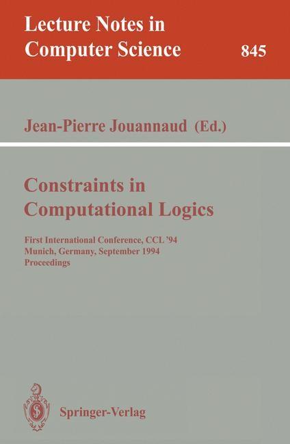 Abbildung von Jouannaud | Constraints in Computational Logics | 1994