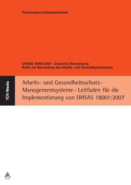 Abbildung von Reinartz / Pautmeier   OHSAS 18002:2008 - Deutsche Übersetzung   2009