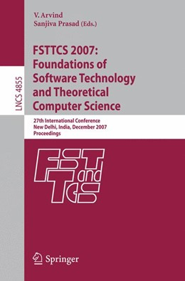 Abbildung von Arvind / Prasad | FSTTCS 2007: Foundations of Software Technology and Theoretical Computer Science | 2007 | 27th International Conference,...