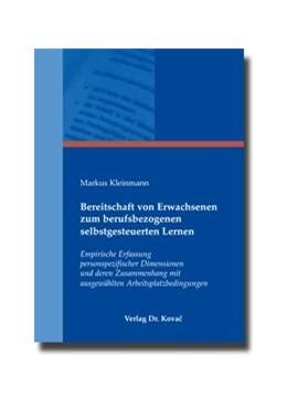 Abbildung von Kleinmann | Bereitschaft von Erwachsenen zum berufsbezogenen selbstgesteuerten Lernen | 2010 | Empirische Erfassung personspe... | 9